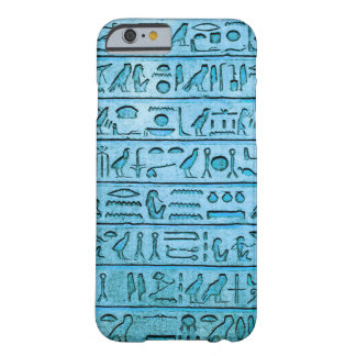 Ancient Egyptian Hieroglyphs - Blue Barely There iPhone 6 Case