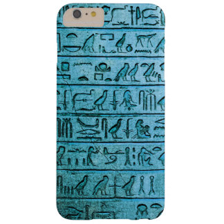 Ancient Egyptian Hieroglyphs Blue Barely There iPhone 6 Plus Case