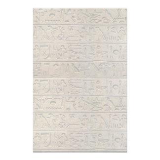 Ancient Egyptian Hieroglyphs Design Writing Paper