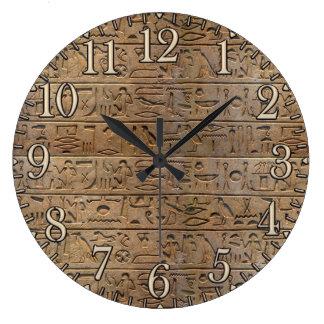 Ancient Egyptian Hieroglyphs Designer Clock