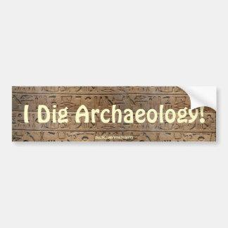Ancient Egyptian Hieroglyphs Designer Gift Bumper Sticker