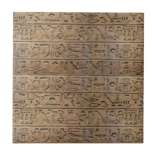 Ancient Egyptian Hieroglyphs Designer Gift Ceramic Tile
