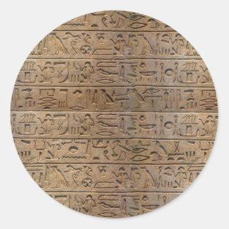 Ancient Egyptian Hieroglyphs Designer Gift Classic Round Sticker