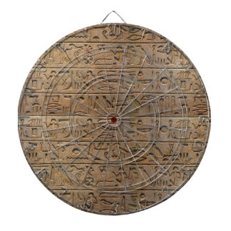 Ancient Egyptian Hieroglyphs Designer Gift Dartboard With Darts