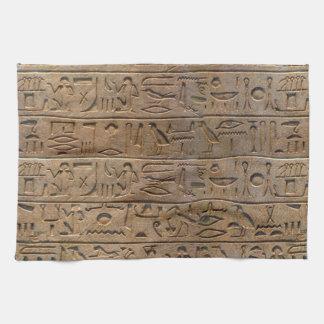 Ancient Egyptian Hieroglyphs Designer Gift Kitchen Towel