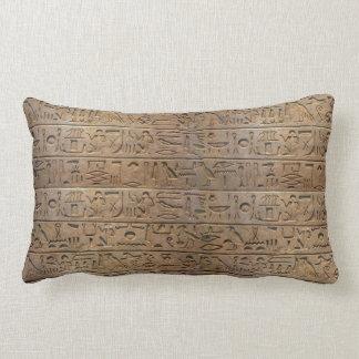 Ancient Egyptian Hieroglyphs Designer Gift Lumbar Pillow