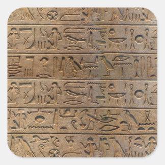 Ancient Egyptian Hieroglyphs Designer Gift Square Sticker