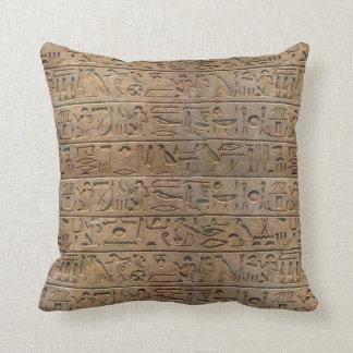 Ancient Egyptian Hieroglyphs Designer Gift Throw Pillow