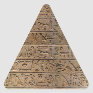 Ancient Egyptian Hieroglyphs Designer Gift Triangle Sticker
