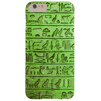 Ancient Egyptian Hieroglyphs Green Barely There iPhone 6 Plus Case