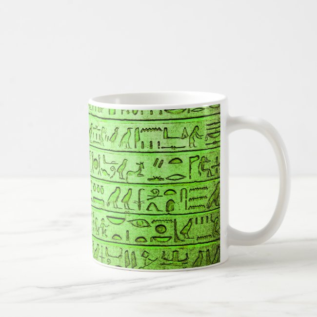 Ancient Egyptian Hieroglyphs Green