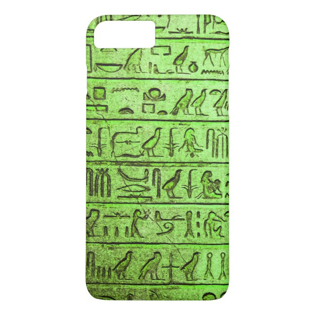 Ancient Egyptian Hieroglyphs Green iPhone 7 Plus