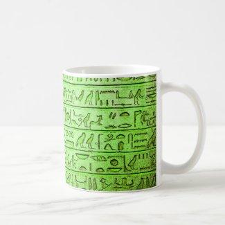 Ancient Hieroglyphs Green Mug