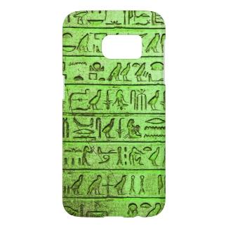 Ancient Egyptian Hieroglyphs Green