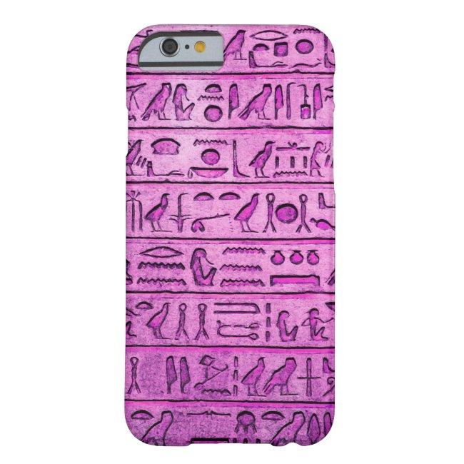 Ancient Egyptian Hieroglyphs - Purple