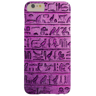 Ancient Egyptian Hieroglyphs Purple Barely There iPhone 6 Plus Case
