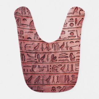 Ancient Egyptian Hieroglyphs Red Baby Bib