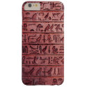 Ancient Egyptian Hieroglyphs Red Barely There iPhone 6 Plus Case (<em>$44.40</em>)