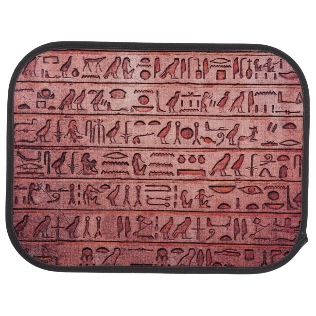 Ancient Egyptian Hieroglyphs Red