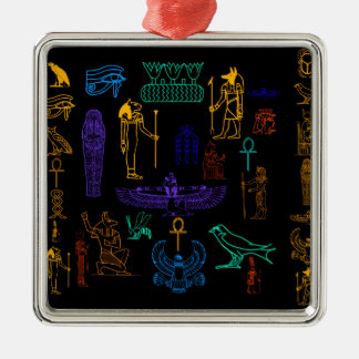 Ancient Egyptian Hieroglyphs & Symbols Christmas Tree Ornament