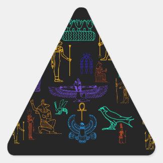 Ancient Egyptian Hieroglyphs & Symbols Triangle Sticker
