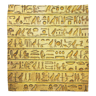 Ancient Egyptian Hieroglyphs Yellow Bandana