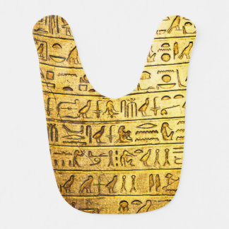 Ancient Egyptian Hieroglyphs Yellow Bib