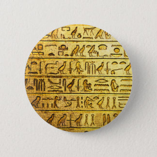 Ancient Egyptian Hieroglyphs Yellow Button