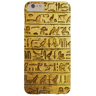 Ancient Hieroglyphs Yellow iPhone Case