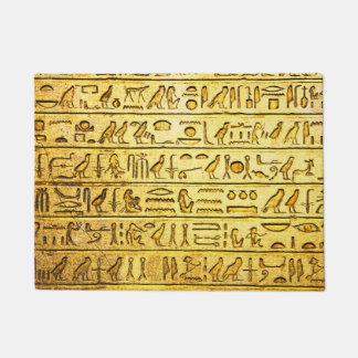 Ancient Egyptian Hieroglyphs Yellow Doormat