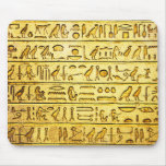Ancient Egyptian Hieroglyphs Yellow Mouse Pad