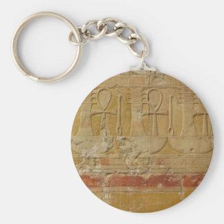 Ancient Egyptian Key Of Life Ankh Basic Round Button Keychain
