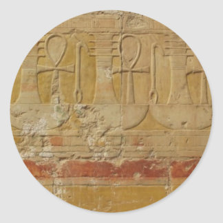 Ancient Egyptian Key Of Life Ankh Classic Round Sticker
