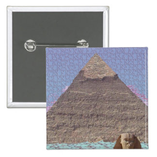 ANCIENT EGYPTIAN KHUFU SPHINX PYRAMID PUZZLE PINBACK BUTTONS