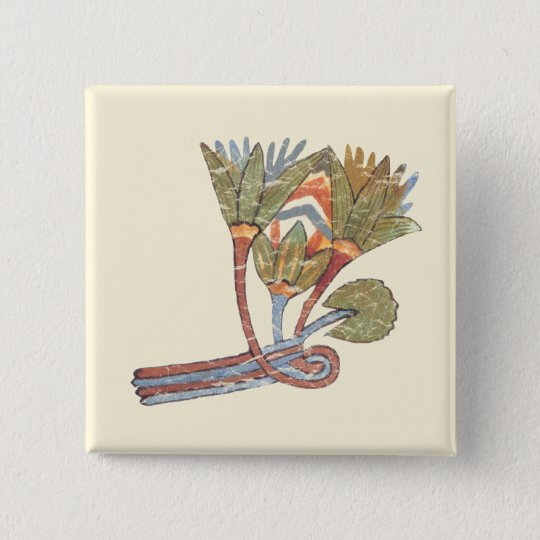 Ancient Egyptian Lotus Flower Button Zazzle