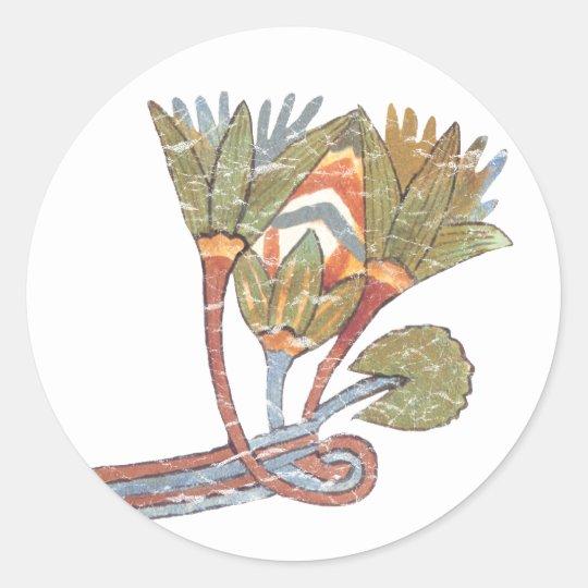 Ancient Egyptian Lotus Flower Classic Round Sticker Zazzlecom