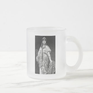 Ancient Egyptian 10 Oz Frosted Glass Coffee Mug