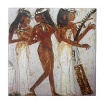 """Ancient Egyptian Music Ceramic Tile<br><div class=""""desc"""">Women of Ancient Egypt playing musical instruments in this wall art of the ancient world.</div>"""