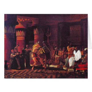 Ancient Egyptian Musicians 1863 Card