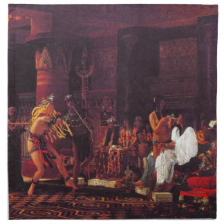 Ancient Egyptian Musicians 1863 Cloth Napkin