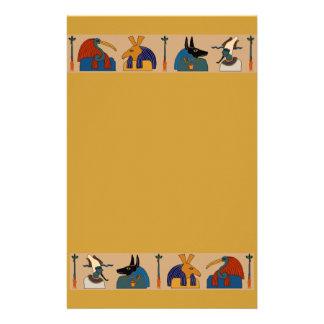 Ancient Egyptian Mythological Gods Mummy Ceremony Stationery