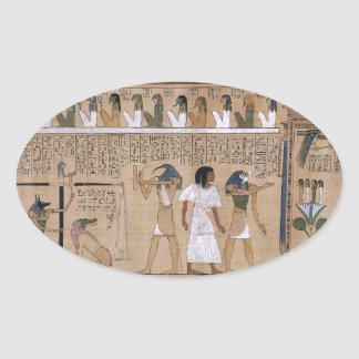 Ancient Egyptian Oval Sticker