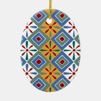 Ancient Egyptian Pattern: Thebes Christmas Ornament