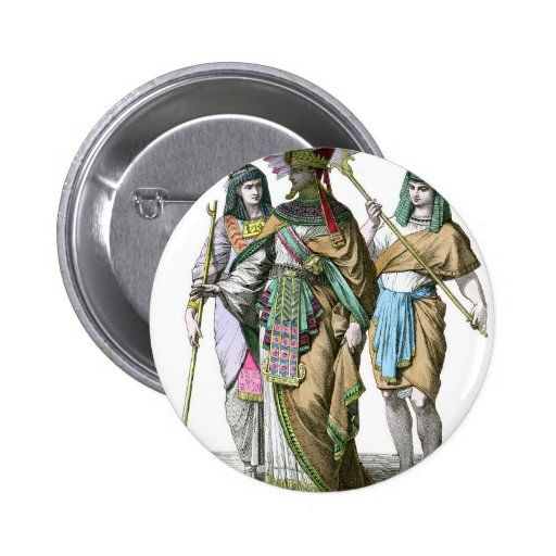 Ancient egyptian pharaoh 2 inch round button