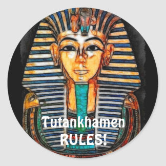 Ancient Egyptian Pharaoh Tutankhamen Classic Round Sticker