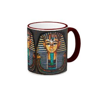 Ancient Egyptian Pharaoh Tutankhamen Ringer Mug