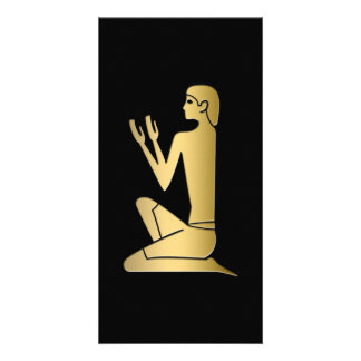 Ancient Egyptian praying figure Card