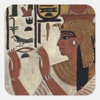 Ancient Egyptian Queen [Nefertari] Square Sticker