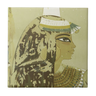 Ancient Egyptian Queen Vintage Luxor Travel Tile