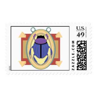 Ancient Egyptian Scarab Postage Stamp